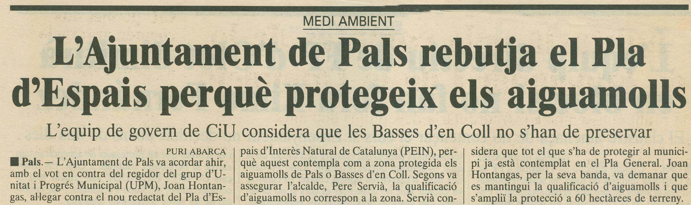 Punt-Diari, 16-9-1989